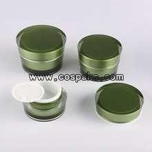 Green Series Acrylic Cosmetic Containers Wholesale